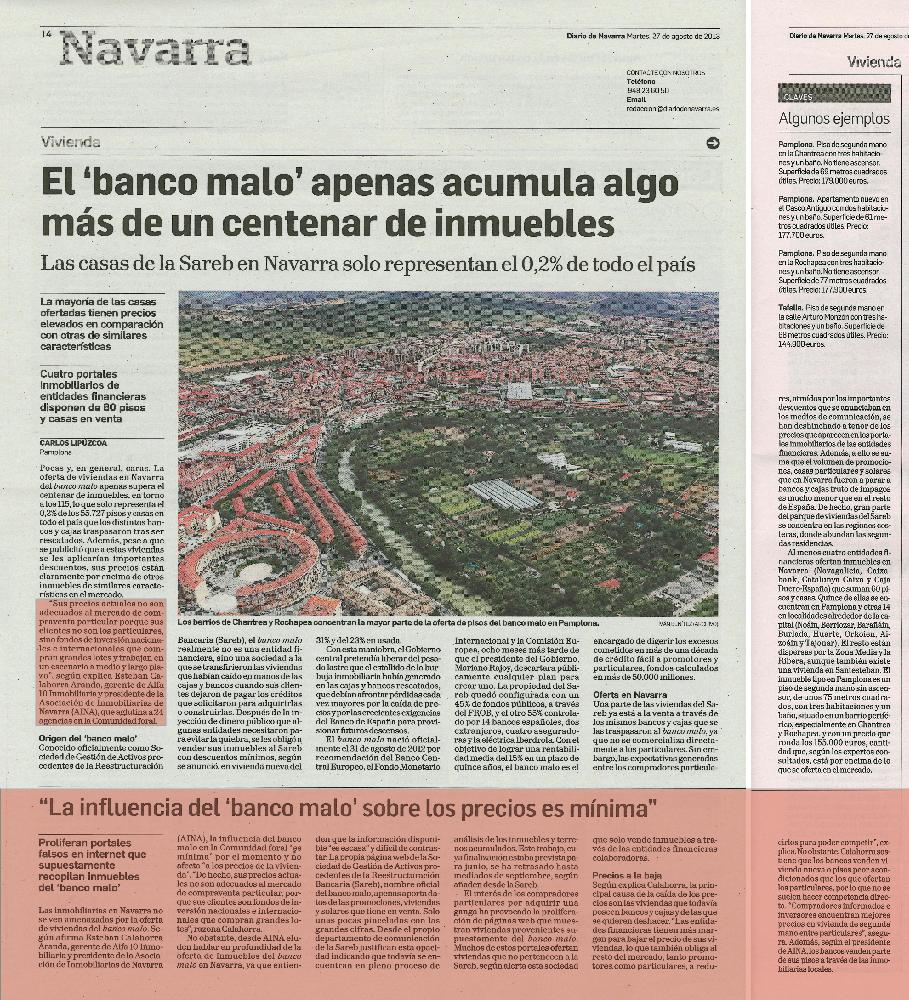 SAREB banco malo en Navarra